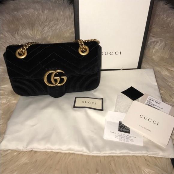 b6b595001ecc Gucci Bags | Authentic Suede Marmont Bag In Women | Poshmark